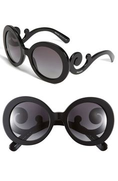 82096ff2d8f Free shipping and returns on Prada  Baroque  55mm Round Sunglasses at  Nordstrom.com