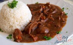 Dušené ledvinky s rýži New Menu, Food And Drink, Rice, Cooking, Kitchen, Cuisine, Koken, Laughter, Brewing