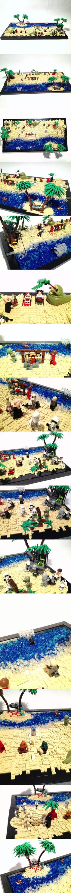 Star Wars beach party! Absolutely AMAZING! - For more of my favourite Lego MOCs visit http://www.matthewfritz.com/lego
