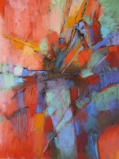Contemporary abstract pastels by Debora Stewart.  Soft pastel on sanded paper.  Beautiful!