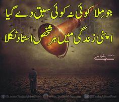 best urdu poetry tanha abbas poetry urdu poetry design apni zindagi me har shakhs ustad nikla urdu shayri