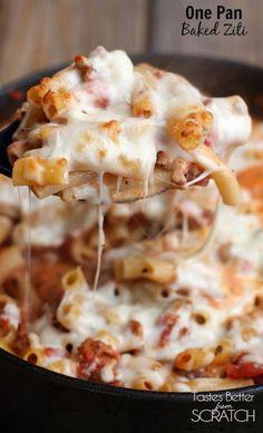 #easy #recipes / One Pan Baked Ziti