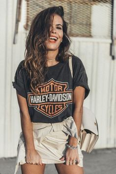 Jackets womens vintage tees, vintage shirts, edgy outfits, retro outfits, c Harley Davidson Shirts, Harley T Shirts, Cute Hipster Outfits, Edgy Outfits, Retro Outfits, Hipster Style, Skirt Outfits, Biker Chick Outfit, Harley Davidson Kleidung
