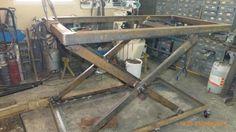 Fabrication d'une table de soudure élévatrice