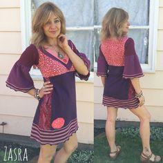 Eco Tunic Dress size S/MEco Clothing boho tunichippie by zasra