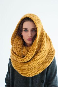chunky infinity scarf by marcellamoda on Etsy