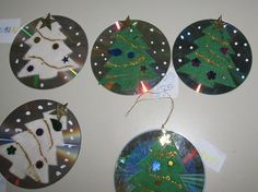 lavoretti di natale con cd - Cerca con Google Kids Christmas, Xmas, Christmas Ornaments, Christmas Trees, Cd Crafts, Decoration, December, Holiday Decor, Winter