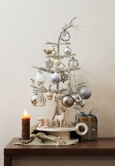 silver tree w/woodland touches