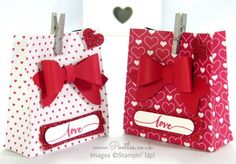 SpringWatch 2015 Red Heart Bow Builder Bag Tutorial | Stampin' Up! UK #1 Demonstrator Sam Donald