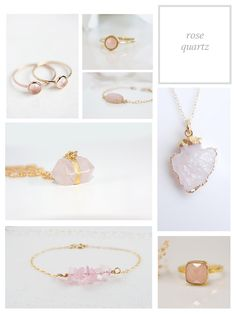 Rose Quartz Jewelry/ etsy finds