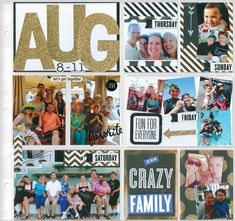 me & my BIG ideas scrapbook layout, POCKET PAGES. now available at Michaels stores august project life layout