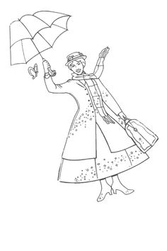 mary poppins colouring pages - Google Search