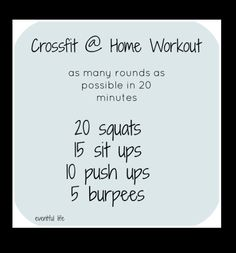 Home workout crossfit gym 37 Ideas Crossfit Workouts At Home, Crossfit Gym, At Home Workout Plan, Amrap Workout, Workout Challenge, Tabata, Fitness Diet, Fitness Motivation, Health Fitness