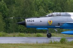 Romania Air Force Mikoyan-Gurevich MiG-21 at Tour-de-Sky airshow at Kuopio…