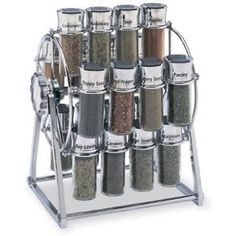 Olde Thompson 20 Jar Ferris Wheel Spice Rack- Filled (Click image to view larger image)