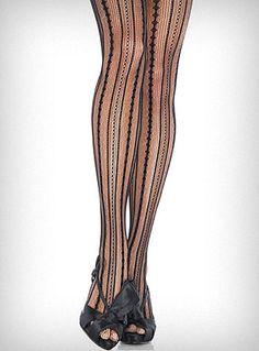 Burlesque Stripe Pantyhose