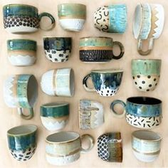 """The word """"ceramics"""" comes form the Greek word """"keramikos"""", which means pottery. The line of the Greek word means potter's clay and ceramic art directly … Pottery Tools, Slab Pottery, Pottery Mugs, Ceramic Pottery, Slab Ceramics, Hand Painted Ceramics, Pottery Painting, Ceramic Painting, Ceramic Cups"""