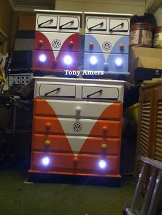 VW bus dresser & night stands by Tony Amers