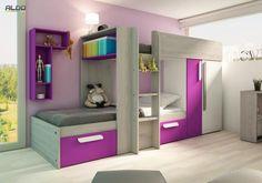 Patrová postel pro holky B s růžovými prvky