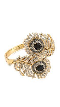 Juicy Couture Pave Feather Drama Bangle Bracelet