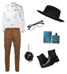 Nicolas Gomez by nicolasgomez-1 on Polyvore featuring Alexander McQueen, Valentino, Aquatalia by Marvin K., River Island, EyeBuyDirect.com, Versace, Fendi, men's fashion, menswear and nicolasgomez