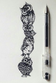 I absolutely love this!!!! ❤❤❤❤❤❤❤. Owl tattoo idea?