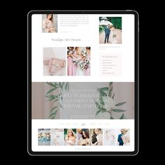 Rowan is a beautiful and timeless website layout for fine art and professional wedding and portrait photographers. Beautiful Website Design, Website Design Inspiration, Blog Layout, Rowan, Portrait Photographers, Layouts, Wordpress, Feminine, Branding