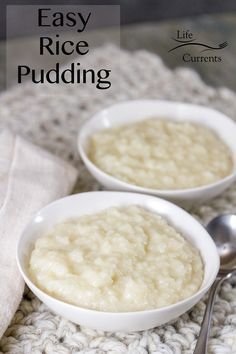 Easy Rice Pudding Using Leftover Cooked Rice Recipe - so comforting and homey, and it's the perfect way to use up that leftover rice. Easy Rice Pudding, Vegan Pudding, Vegan Desserts, Fun Desserts, Dessert Recipes, Cooked Rice Recipes, How To Make Cake, Food To Make, Leftover Rice