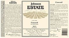 2014 Johnson Estate Lake Erie Concord Red Wine 750 mL >>> More info could be found at the image url.