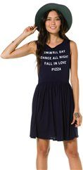 WILDFOX PIZZA PARTY 90S BABY DOLL DRESS | Swell.com