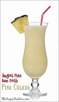 This is the recipe for a sugar free pina colada. This recipe can be made with ou…, - Thanksgiving Drinks Sugar Free Alcohol, Sugar Free Drinks, Sugar Free Recipes, Keto Recipes, Healthy Recipes, Low Carb Cocktails, Frozen Cocktails, Bebidas Low Carb, Frozen Pina Colada