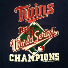 Vintage 1987 Minnesota Twins baseball MLB t-shirt