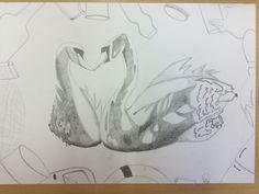 Dit is het eindresultaat van mijn tekening. Ik ben er best wel trots op. Ik vind dat de vormen goed zijn gelukt. Ik vond arceren lastig, maar ik vind dat ik er wel wat beter in ben geworden. Als ik meer tijd zou hebben gehad leek het mij wel leuk om iets met kleur te doen. Nu hoop ik alleen nog op een goed cijfer😝.