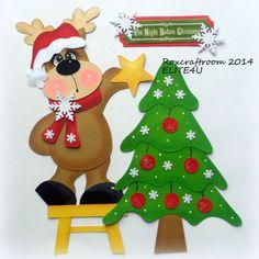 ELITE4U PREMADE CHRISTMAS TEAR BEAR PAPER PIECING SCRAPBOOK ALBUM PAGE ROXCRAFTS #Roxcraftroom