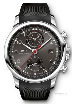 IWC – Portugieser Yacht Club Chronograph. The model is now slightly smaller with ergonomically designed strap horns and a new strap.