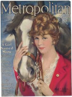 Antique HASKELL COFFIN Horse Girl METROPOLITAN MAG Cvr