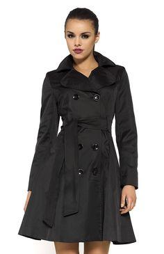 Manteau tres tres long noir femme