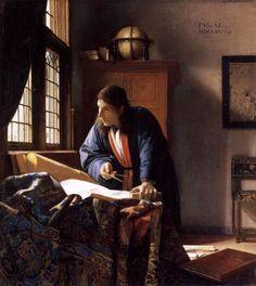 Jan Vermeer (1632-1675) – The Geographer, c.1668-1669 - oil on canvas, 53 x 46.6 cm - Städelsches Kunstinstitut, Frankfurt am Main
