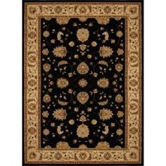 Home Dynamix Dynasty Black and Beige 3 ft. 9 in. x 5 ft. 2 in. Area Rug  on  Daily Rug Deals