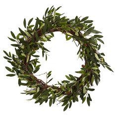 Faux Olive Wreath - Peaceful Tidings on Joss & Main
