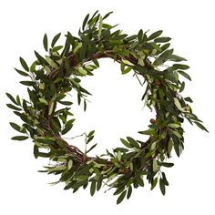 Loving olive wreaths this season!