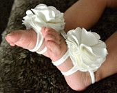 Baby barefoot sandals- baby sandals. $14.95, via Etsy. How cute!!
