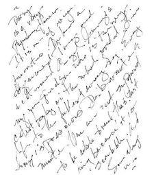 Unmounted caoutchouc Contexte Stamp - l'écriture manuscrite