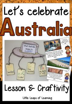 Let's Celebrate Australia: Lesson and Craftivity (Australia Day) - So Funny Epic Fails Pictures Australia For Kids, Australia Crafts, Australia Animals, Australia Travel, Preschool Jungle, Preschool Activities, Australia Day Craft Preschool, Australia Day Celebrations, Kindergarten Lessons
