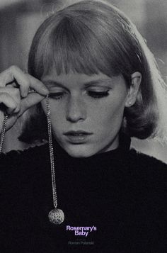 """Mia Farrow in Roman Polanski´s Rosemary´s Baby I also like the less talked about apartment film he did, """"Repulsion. Mia Farrow, Stanley Kubrick, Rosemaries Baby, Baby Posters, Movie Posters, Roman Polanski, Rose Marie, Film School, Horror Films"""