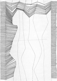 Abstract drawing with lines can be very relaxing for kids, and a great way to explore abstraction. Pair with a lesson about optical illusions, or a discussion about perspectival lines versus parallel lines. Drawing Projects, Drawing Lessons, Drawing Techniques, Op Art Lessons, Drawing Tips, Teaching Drawing, Teaching Art, School Art Projects, Art School