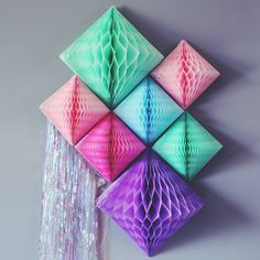What a creative way to use honeycomb diamonds! We want to try this for our next Pinners Conference party backdrop.