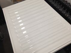 This old style steel radiator had been re painted white and then we have lacquered it! Amazing effect! High Gloss extra extra shiny!