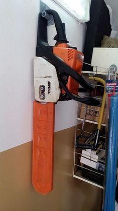 Chainsaw in the garage Chainsaw in the . - Chainsaw in the garage Chainsaw in the garage, chainsaw - Garage Workshop Organization, Garage Tool Storage, Workshop Storage, Garage Tools, Garage Shop, Shed Storage, Diy Storage, Diy Workshop, Organization Ideas