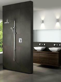 Modern bathroom design ideas can be used in most bathroom styles for an attractive midcentury look. Look these Stunning 25 Modern Bathroom Design Ideas. Contemporary Bathrooms, Modern Bathroom Design, Bath Design, Modern House Design, Bathroom Interior, Cabin Design, Bathroom Designs, Modern Contemporary, Ideas Baños